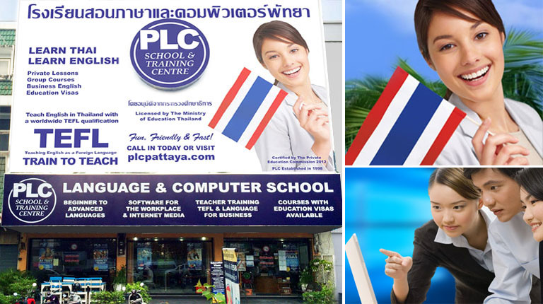 PLC School Branches in Central and North Pattaya