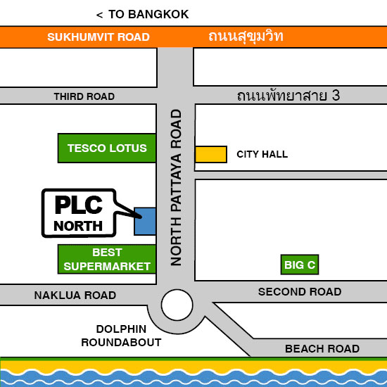 Map PLC Pattaya North
